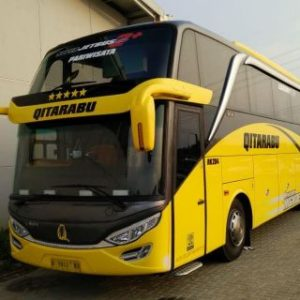 Sewa bus pariwisata super high deck